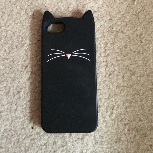 quality design c8878 d9555 Kate Spade black cat rubber iPhone 5 case