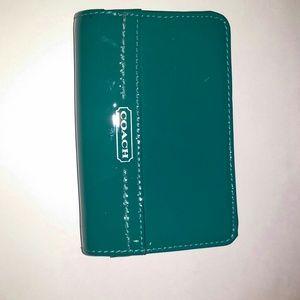 Coach teal wallet