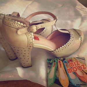 Shoes - Miz Mooz Flossy Leather T-Strap