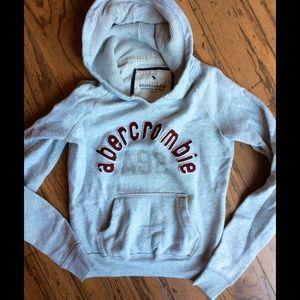 Abercrombie & Fitch Grey Hoodie Sz. M Medium