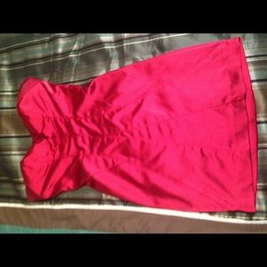 Bebe red strapless dress