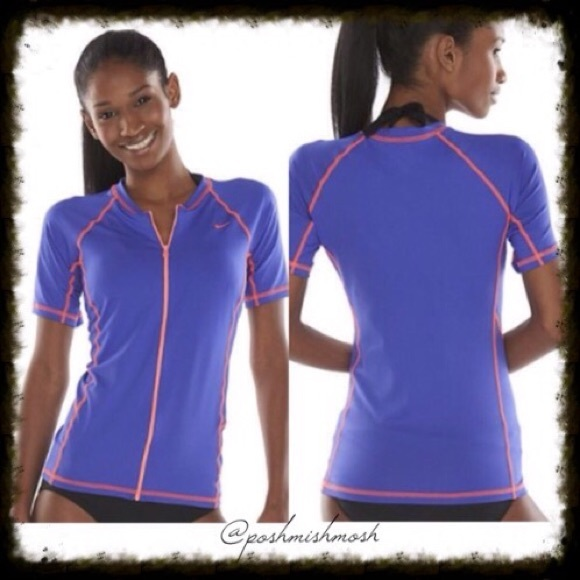 53e39cb8de3 Nike Swim   Rash Guard Zip Shirt   Poshmark