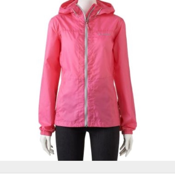 46% off Columbia Outerwear - Columbia Pink Rain Dancer Hooded ...