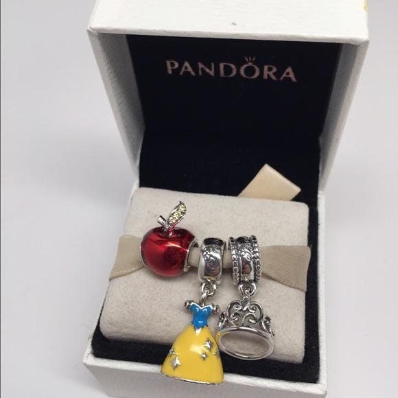 38 Off Pandora Jewelry Pandora Charms Disney Snow White 3 Piece Set From Top 10 Percent