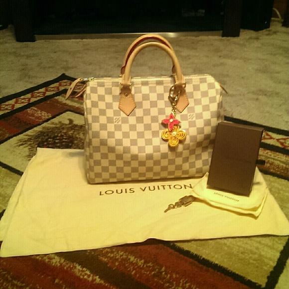 5b543a8f104b7 Louis Vuitton Bags   1night Sale Damier Azur Speedy 30   Poshmark