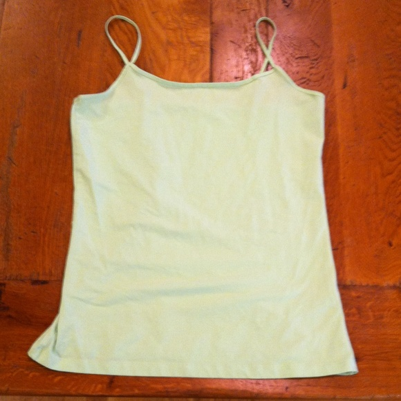 Halogen Tops - Pale green spaghetti cami
