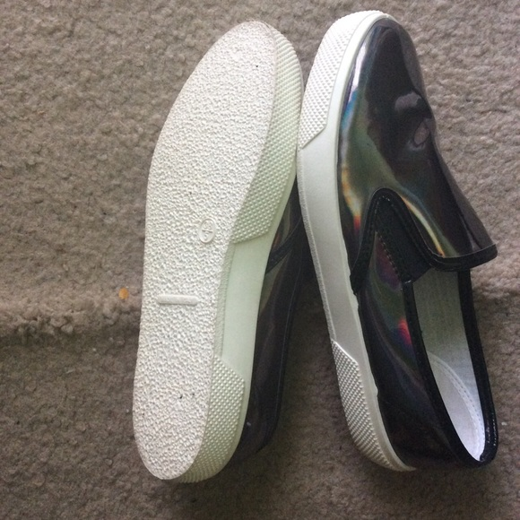 67 asos shoes black holographic asos slip ons from