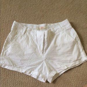 White j.crew chino shorts
