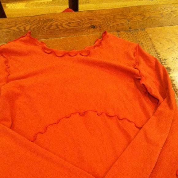 Treehouse 28 Dresses - Long sleeve orange dress.