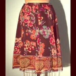 Sunny Leigh Dresses & Skirts - Silk floral gored knee length skirt-border print-8