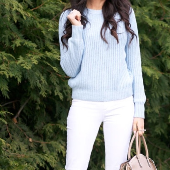17% off H&M Sweaters - 🍩 SOLD - H&M | Powder Blue Knit Pullover ...