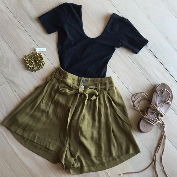 44% off Zara Dresses & Skirts - ZARA olive green high waisted ...