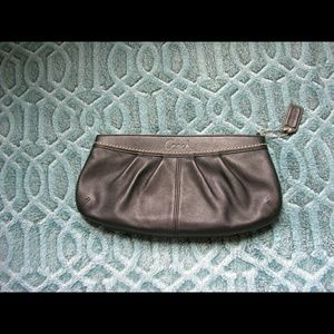 Coach leather hobo collection clutch