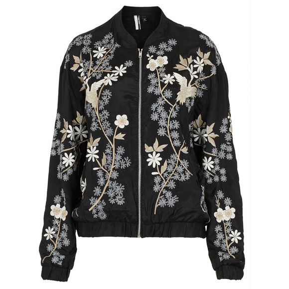 Topshop - Topshop Chinoiserie Flower Bomber Jacket from Inspired's ...