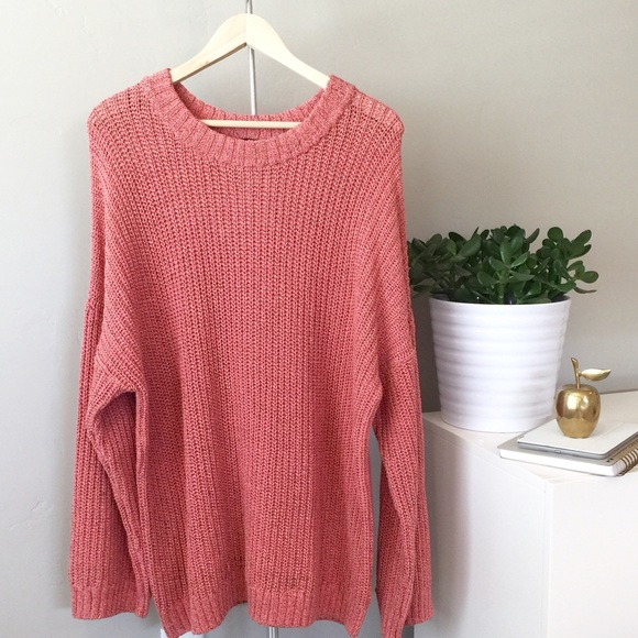 27% off H&M Sweaters - 🍩 SOLD - H&M | Dusty Rose Oversized Knit ...
