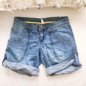 Joie Pants - JOIE Denim 100% Cotton Roll Up Blue Jean Shorts