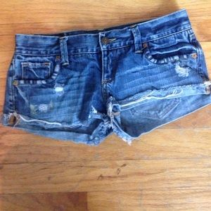 Abercrombie and Fitch distressed shorts