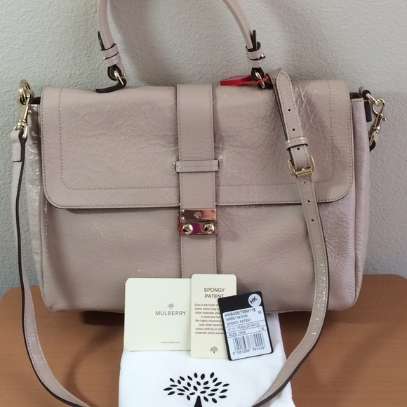 58ace1effbc8 🆕NWT AUTH MULBERRY Harriet Patent Satchel Handbag