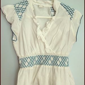 Anthropologie white peasant blouse bundle xs