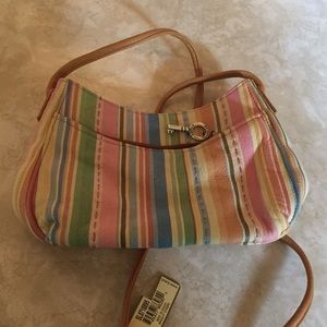 Fossil leather shoulder bag. NWT
