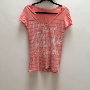 American Eagle Outfitters Aeo Pink Graphic T Shirt From