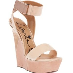 Lanvin Avec Bride Wedge Sandal in 37 NIB