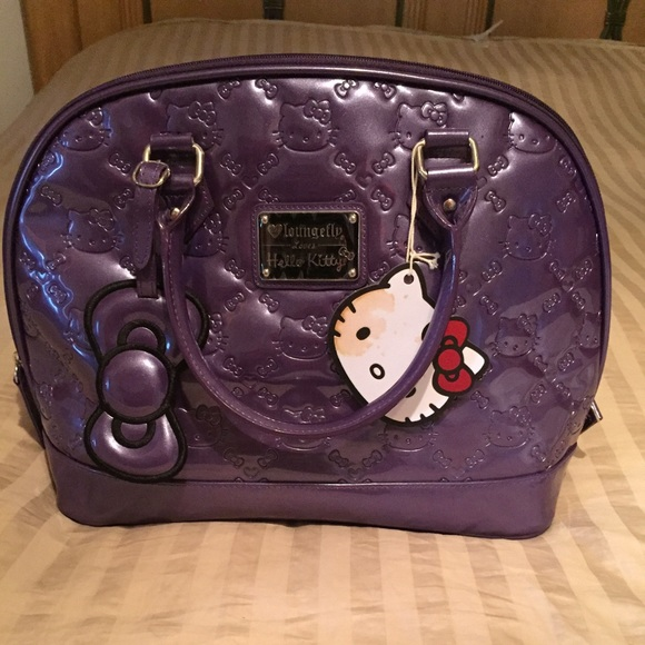 a45db7baa5df Lounge fly Hello kitty patent embossed bag