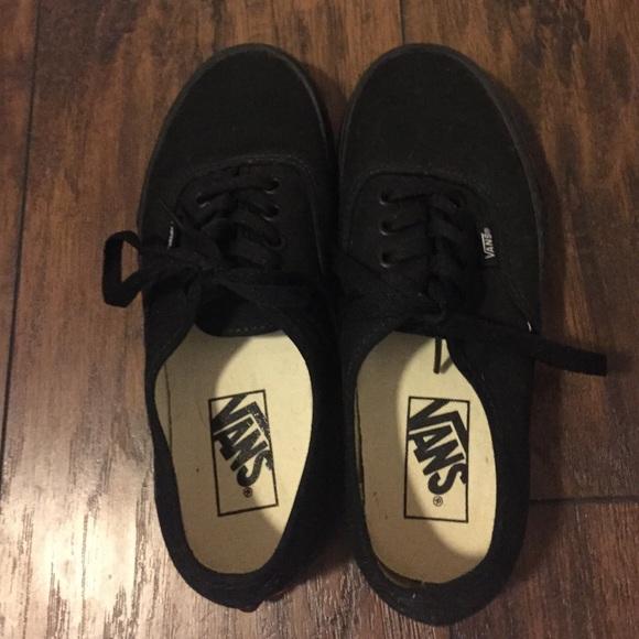 Vans Shoes   Girls Black Vans Size 6