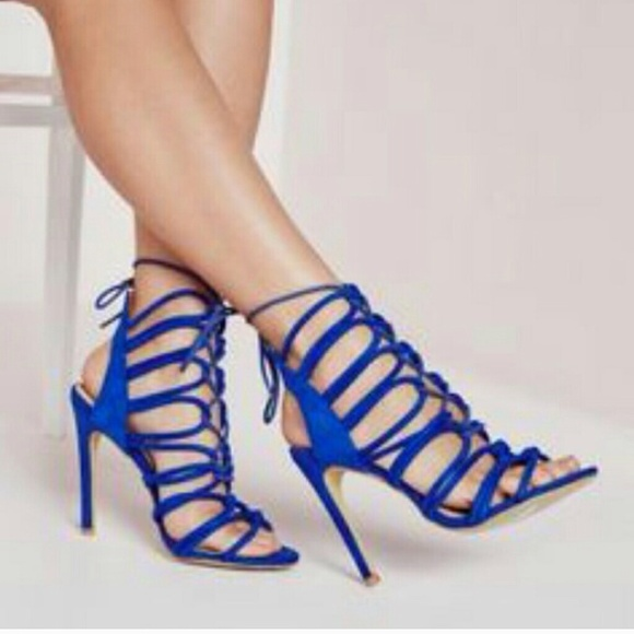 Zara - Zara royal blue lace up heels from Remonia's closet on Poshmark