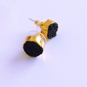 Jewelry - Black Druzy Earrings