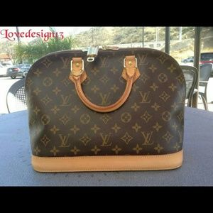 AUTHENTIC LOUIS VUITTON MONOGRAM ALMA PM HANDBAG
