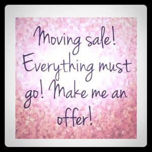 Everything in my closet must go! Make me an offer!