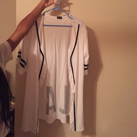 41 Off Love Culture Tops Long White Baseball Jersey