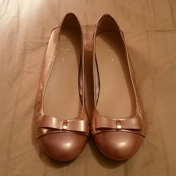 0ede7f7527e5 Cole Haan Shoes - Cole Haan Nike Air Rose Gold Ballet Flats 8