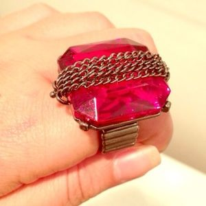 Jewelry - Blood red statement ring