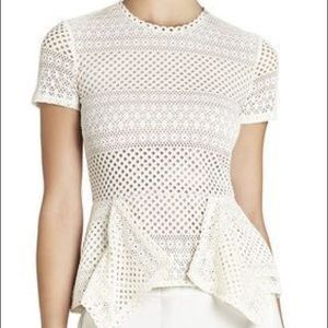 BCBGMaxAzria Tops - Bcbg peplum top cream color