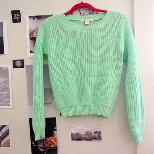 Chunky knit crop sweater