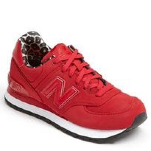 51d837674d Classic traditional 574 red/cheetah newbalances
