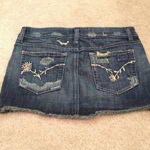 Joe's Jeans Dresses & Skirts - Sexy! Destroyed wash Joe's Jeans denim skirt