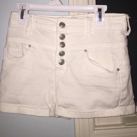 63% off Delias Denim - Delias white high waisted jean shorts from ...