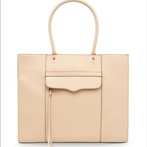 Rebecca Minkoff Handbags - Rebecca Minkoff Biscuit Rose Gold Large Tote Bag