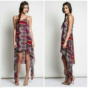 Dresses & Skirts - Asymetrical aztec dress - L