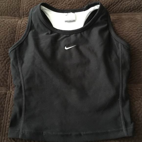 XS Nike dri fit black athletic crop tank top