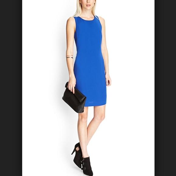 Forever 21 - SOLD - Royal blue cobalt cut out back sheath dress ...