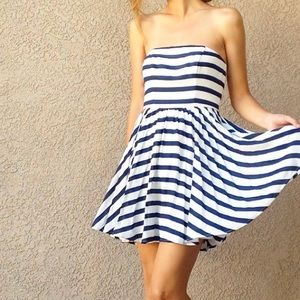 | new | navy striped dress