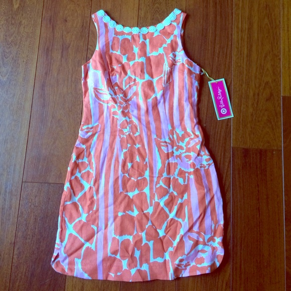 2ff1522a4a7af4 Lilly for Target Giraffe Print Shift Dress, size 2. NWT. Lilly Pulitzer for  Target