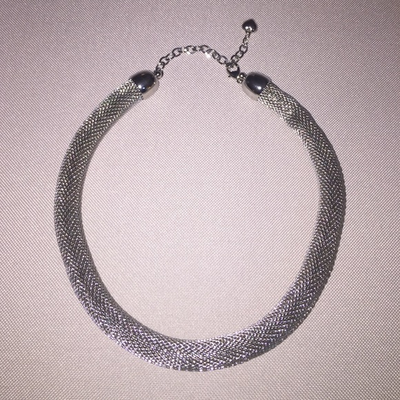 bebe bebe silver collar necklace from erica s closet on