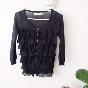 Host Pick Anthropologie Layered Ruffled Cardi