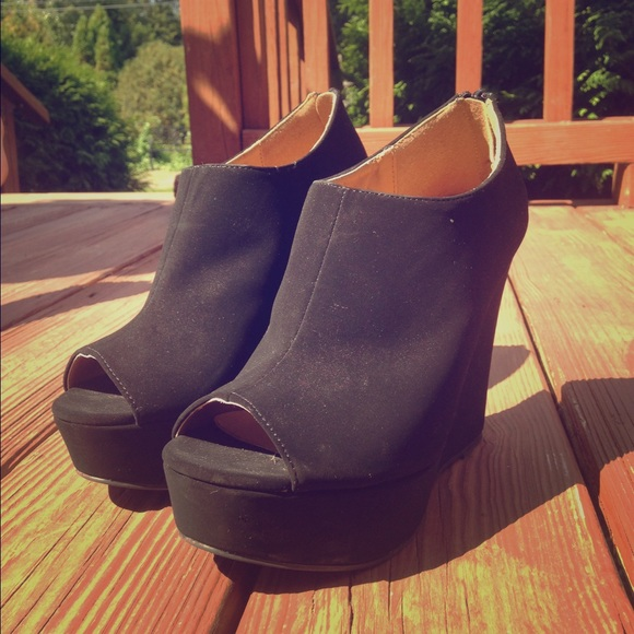 40% off Forever 21 Shoes - Pitaya cute black wedge heels from ...