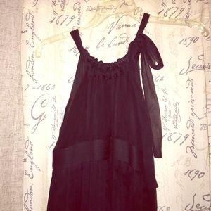 Black to pink ombré dress